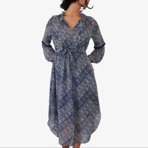 NEW MISA Los Angeles Parisienne Long Sleeves Dress